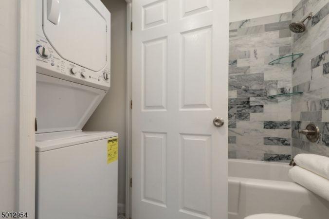 Laundry in bathroom