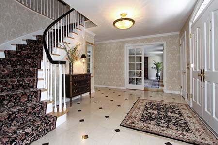 Colonial Home Foyer : Beautiful center hall colonial for sale in summit nj