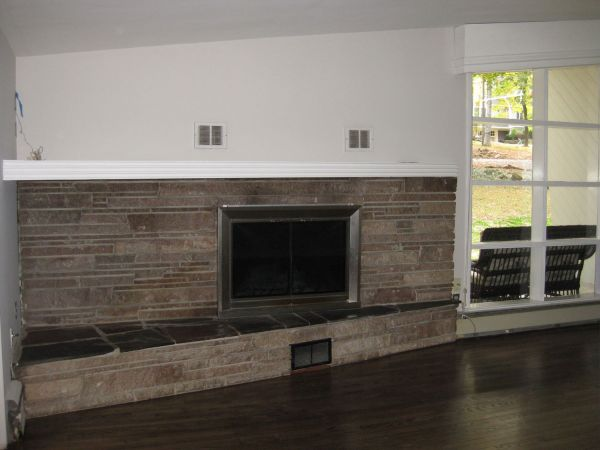 Living Room Marble Fireplace